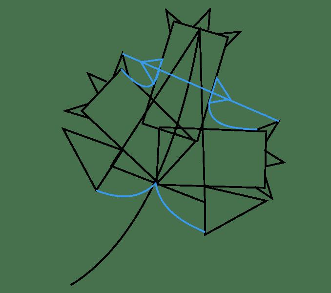 Cách vẽ lá phong: Bước 5