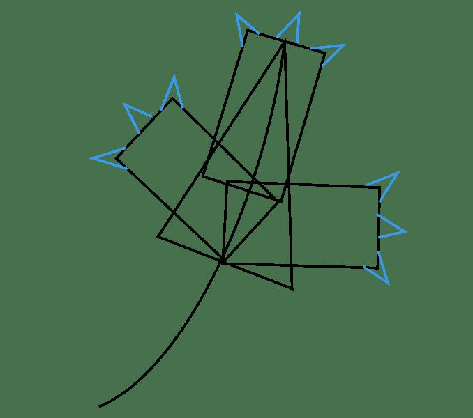 Cách vẽ lá phong: Bước 3