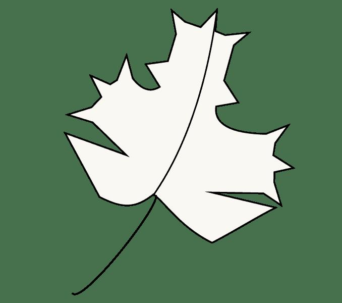 Cách vẽ lá phong: Bước 6