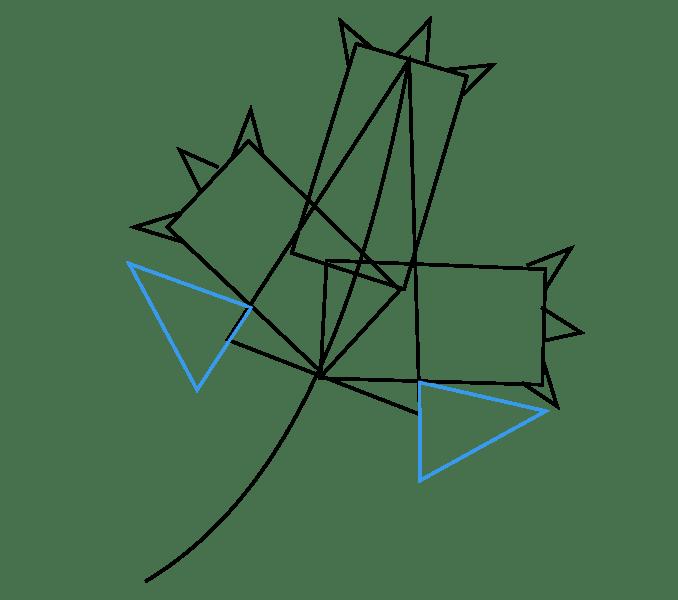 Cách vẽ lá phong: Bước 4