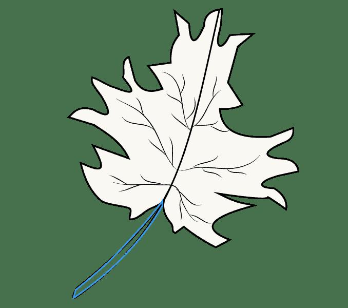 Cách vẽ lá phong: Bước 9