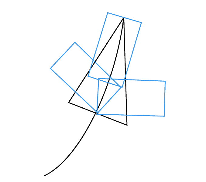 Cách vẽ lá phong: Bước 2