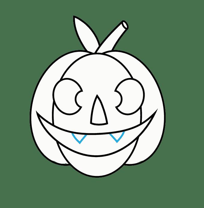 Cách vẽ Jack O Lantern: Bước 10