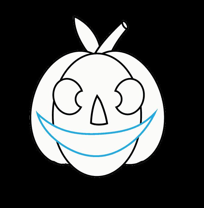Cách vẽ Jack O Lantern: Bước 9