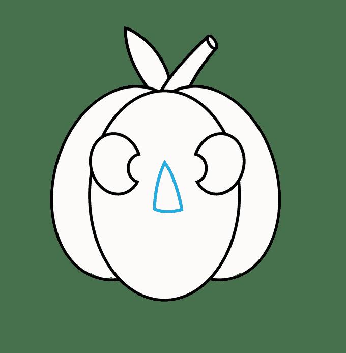 Cách vẽ Jack O Lantern: Bước 8