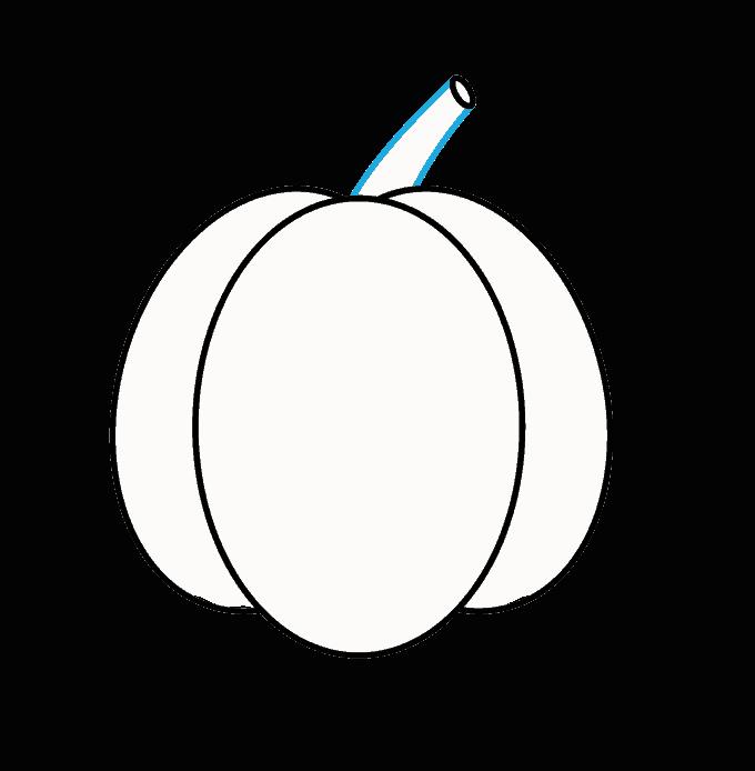 Cách vẽ Jack O Lantern: Bước 4