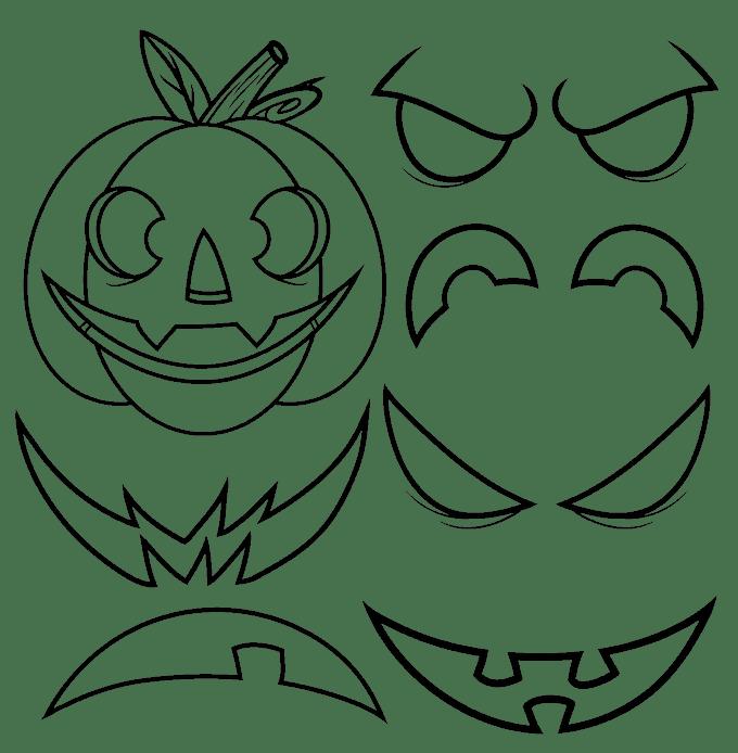 Cách vẽ Jack O Lantern: Bước 13