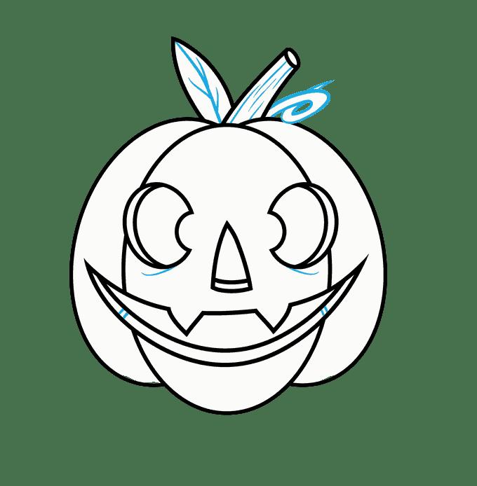 Cách vẽ Jack O Lantern: Bước 12