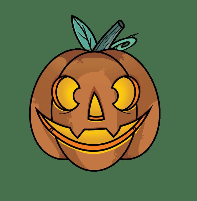 Cách vẽ Jack O Lantern: Bước 14