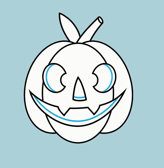 Cách vẽ Jack O Lantern: Bước 11