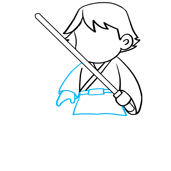 Cách vẽ Luke Skywalker: Bước 7