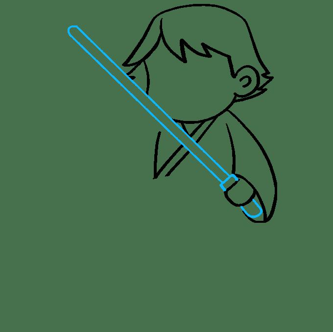 Cách vẽ Luke Skywalker: Bước 6