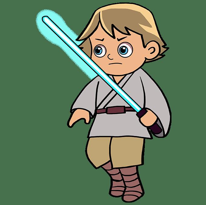 Cách vẽ Luke Skywalker: Bước 10