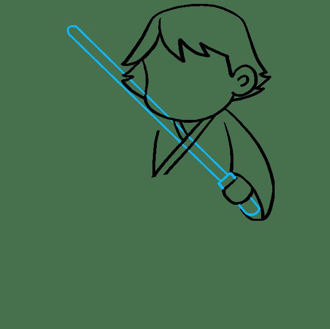 Cách vẽ Luke Skywalker: Bước 5