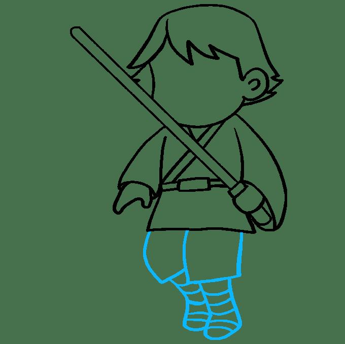 Cách vẽ Luke Skywalker: Bước 8