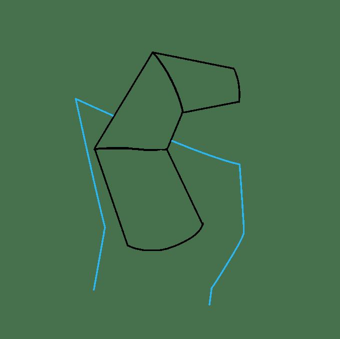Cách vẽ nắm tay: Bước 2