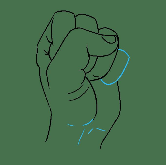 Cách vẽ nắm tay: Bước 9
