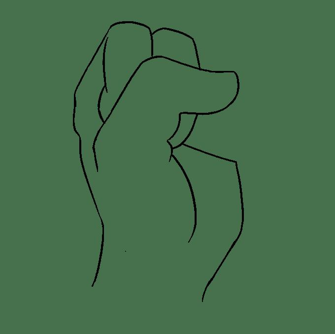 Cách vẽ nắm tay: Bước 6
