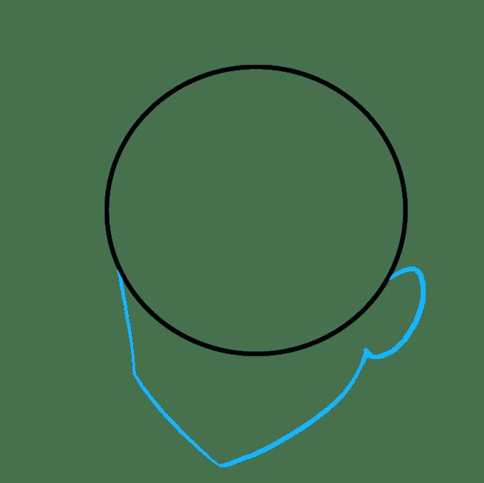 Cách vẽ tóc Manga: Bước 2