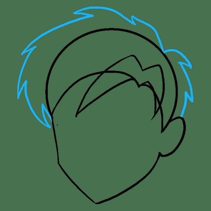 Cách vẽ tóc Manga: Bước 6