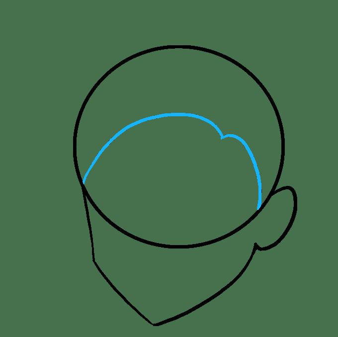 Cách vẽ tóc Manga: Bước 3