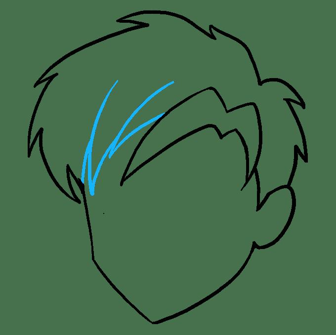 Cách vẽ tóc Manga: Bước 8