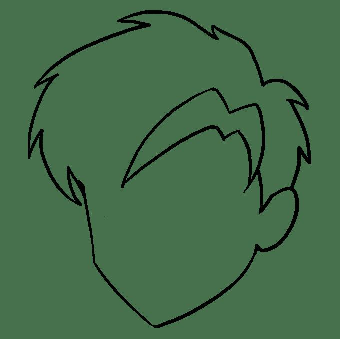 Cách vẽ tóc Manga: Bước 7