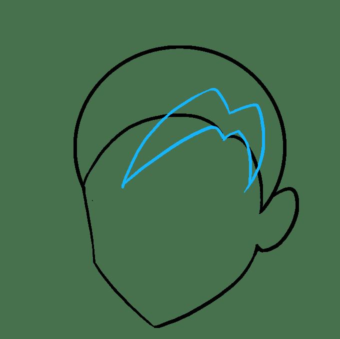Cách vẽ tóc Manga: Bước 5