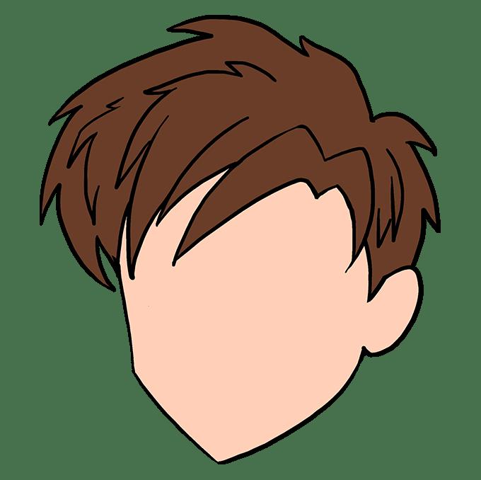 Cách vẽ tóc Manga: Bước 10
