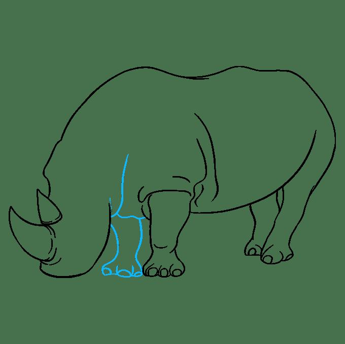 Cách vẽ tê giác: Bước 7