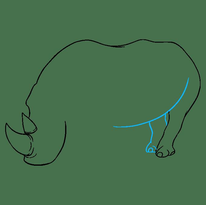 Cách vẽ tê giác: Bước 5