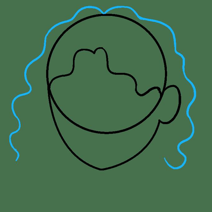 Cách vẽ tóc xoăn: Bước 4