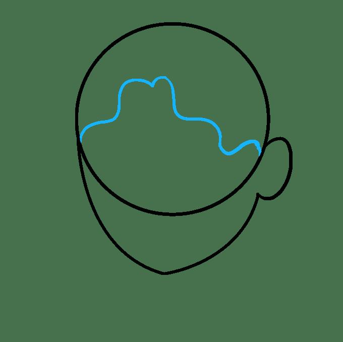 Cách vẽ tóc xoăn: Bước 3