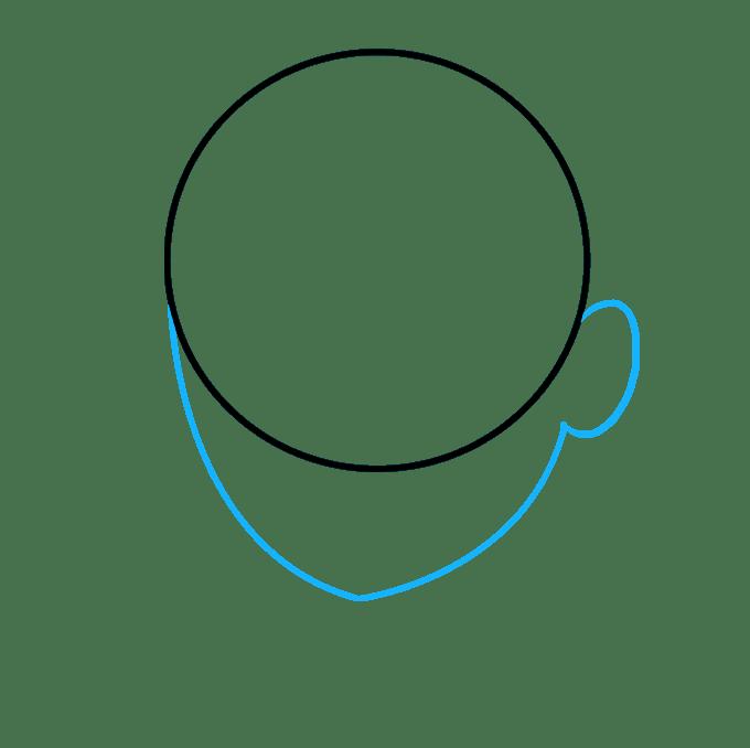 Cách vẽ tóc xoăn: Bước 2