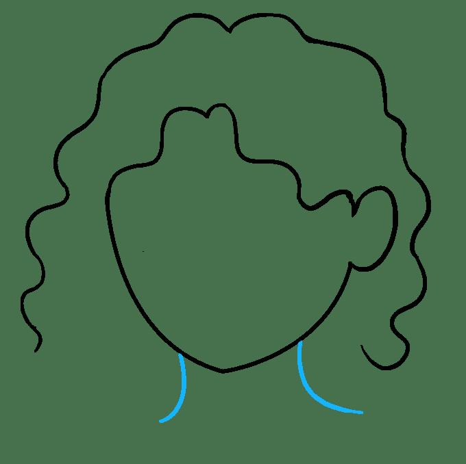 Cách vẽ tóc xoăn: Bước 6