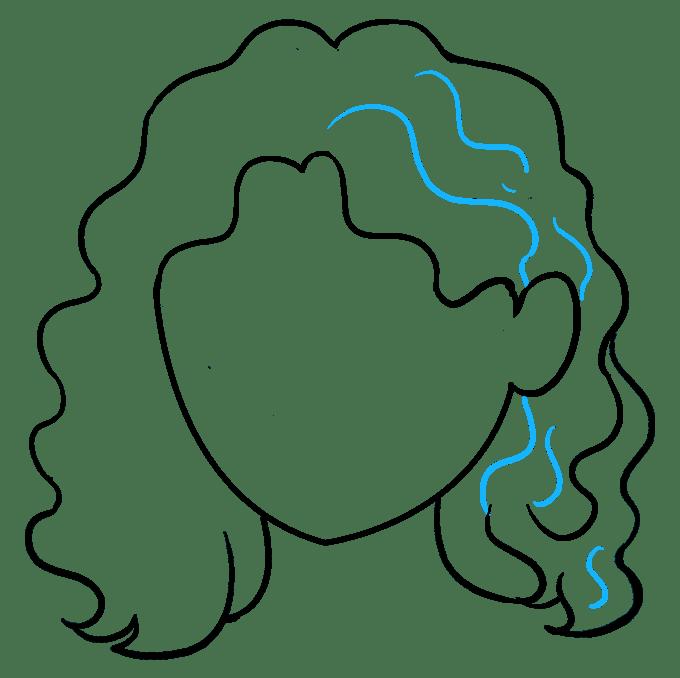 Cách vẽ tóc xoăn: Bước 8