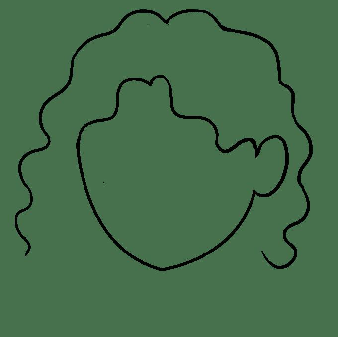 Cách vẽ tóc xoăn: Bước 5