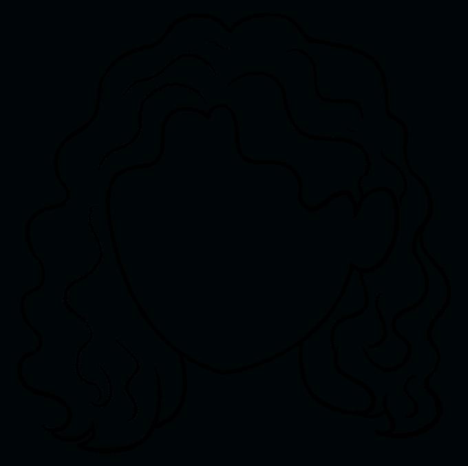 Cách vẽ tóc xoăn: Bước 9
