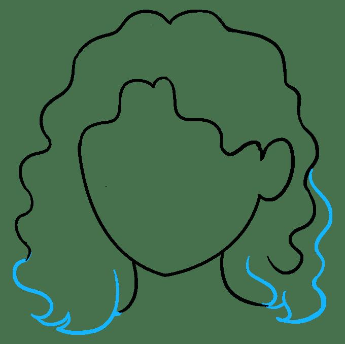 Cách vẽ tóc xoăn: Bước 7