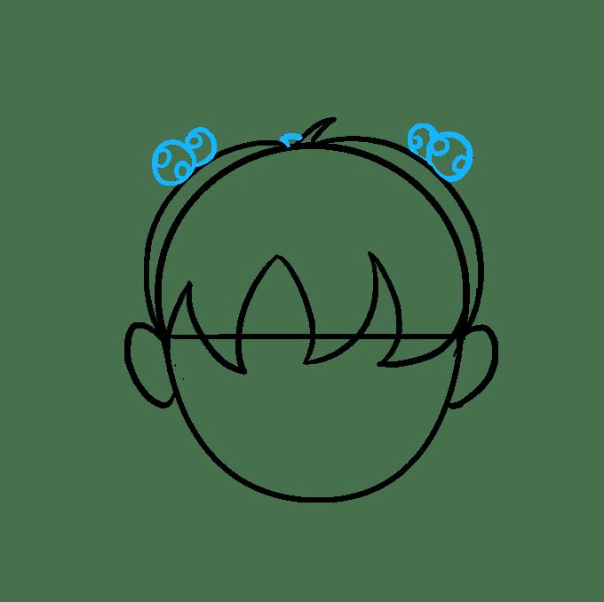 Cách vẽ tóc hoạt hình: Bước 6