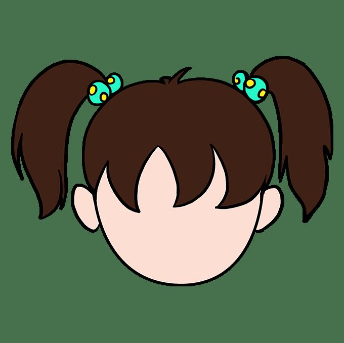 Cách vẽ tóc hoạt hình: Bước 10