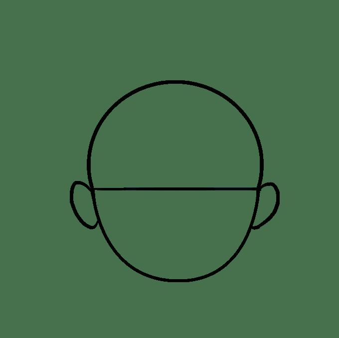 Cách vẽ tóc hoạt hình: Bước 4