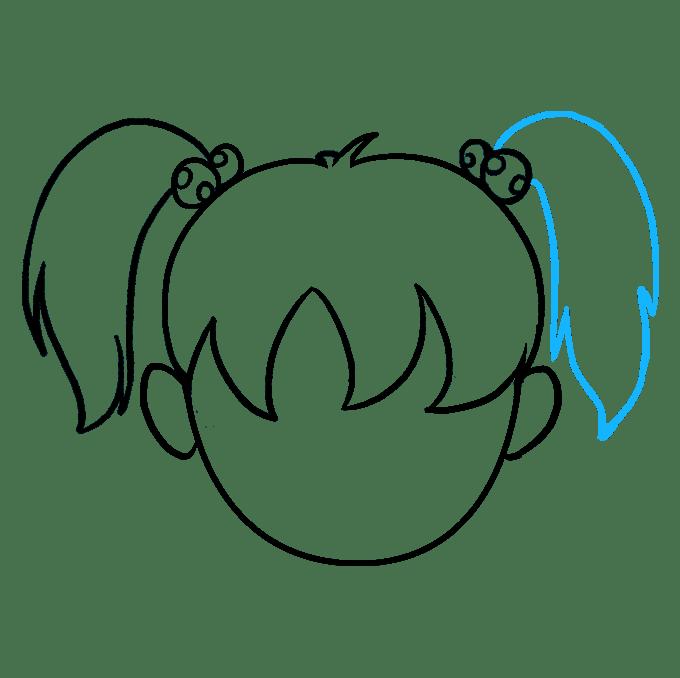 Cách vẽ tóc hoạt hình: Bước 9