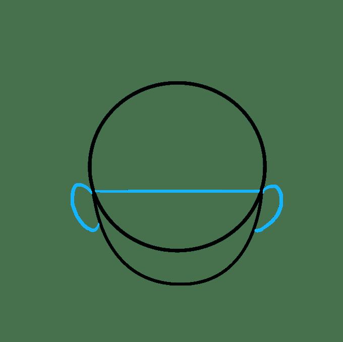 Cách vẽ tóc hoạt hình: Bước 3