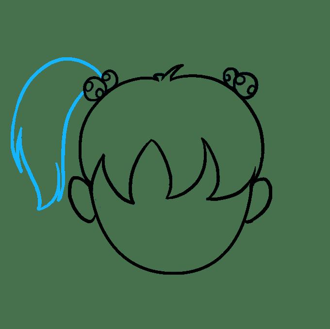 Cách vẽ tóc hoạt hình: Bước 8