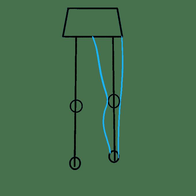 Cách vẽ chân: Bước 4