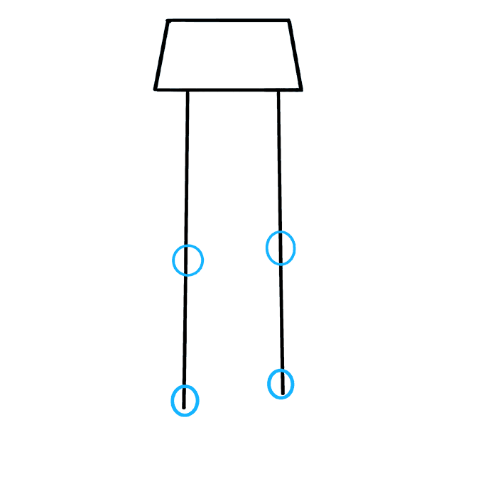 Cách vẽ chân: Bước 3