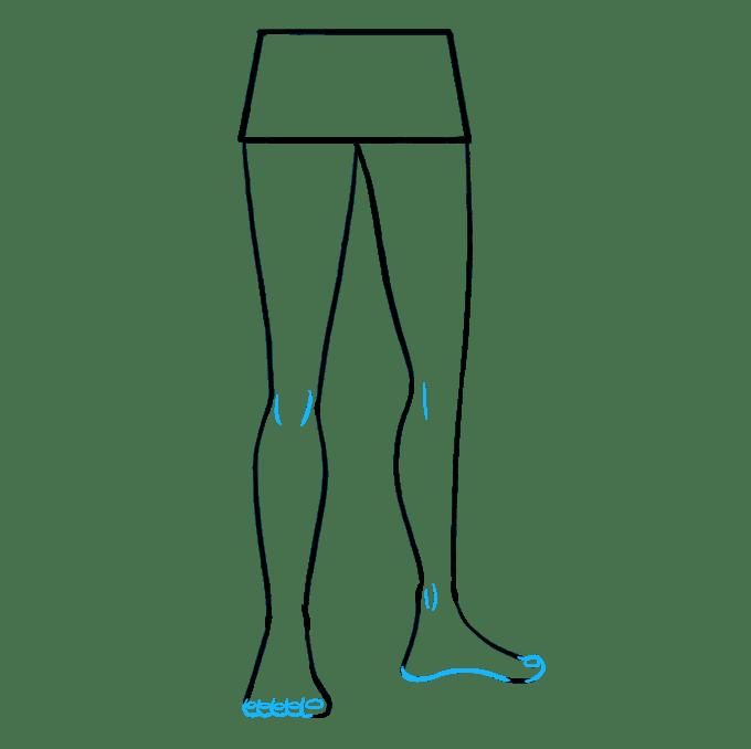 Cách vẽ chân: Bước 9