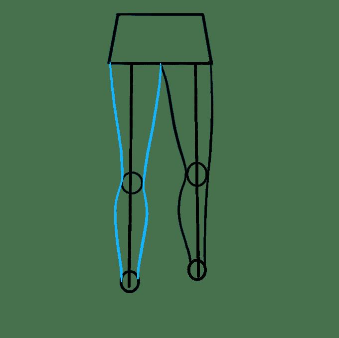 Cách vẽ chân: Bước 5