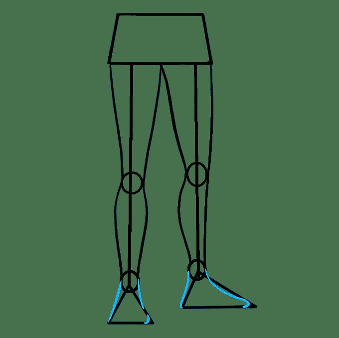 Cách vẽ chân: Bước 7